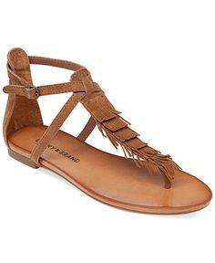 4dcce4d267ad79 Lucky Brand Women s Wekka Fringe Flat Thong Sandals - Sandals - Shoes -  Macy s Flip Flop