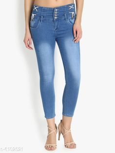 Jeans Women High Waist Skinny Fit Denim Jeans Fabric: Denim Multipack: 1 Sizes: 34 (Waist Size: 34 in Length Size: 40 in)  28 (Waist Size: 28 in Length Size: 40 in)  30 (Waist Size: 30 in Length Size: 40 in)  32 (Waist Size: 32 in Length Size: 40 in)  Country of Origin: India Sizes Available: 28, 30, 32, 34   Catalog Rating: ★3.9 (511)  Catalog Name: Pretty Fashionista Women Jeans CatalogID_928262 C79-SC1032 Code: 265-6102521-4641