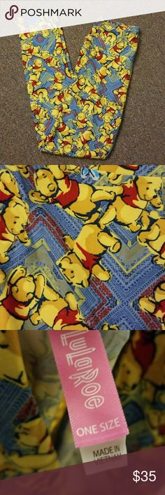 New Lularoe OS Leggings Winnie The Pooh Disney New With Detached Tags Lularoe OS Leggings One Size Disney Winnie The Pooh Buttery Soft I may change my mind on these, if not bought Harder to find Please note that the Disney Collection is a tad pricier than usual Lularoe Ask Questions Bundle and save Lots of Lularoe Posted and more coming LuLaRoe Pants Leggings