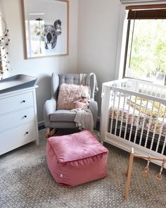 I just LOVE this nursery styled by @eden_maria with lots of Scandi neutral goodness with pops of pink! Our Deluxe Simply Scandi Baby Gym with Perfectly Pink organic wood and silicone play gym toys looks so perfect here.