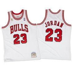 a4c406c6d Men s Chicago Bulls Michael Jordan Mitchell  amp  Ness White 1995-96  Hardwood Classics Authentic