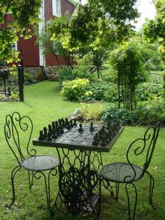 I Need A Chess Set In My Garden Someday.