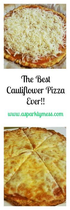The Best Easiest Cauliflower Pizza-This Cauliflower Pizza is a must in our home. This recipe is the best easiest Cauliflower pizza recipe ever! it makes the menu at least twice times a month. Pizza Recipes, Low Carb Recipes, Diet Recipes, Vegetarian Recipes, Cooking Recipes, Healthy Recipes, Healthy Snacks, Zoodle Recipes, Recipies
