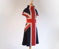 union jack dress | distinctly british style | vintage 1960s 60s dress