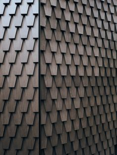 Vatican's Venice Biennale pavilion made using bespoke sustainable shingles by Alpi Scandinavian Architecture, Modern Architecture House, Facade Architecture, Modern House Design, Chinese Architecture, Futuristic Architecture, Modern Houses, Wood Facade, Timber Cladding