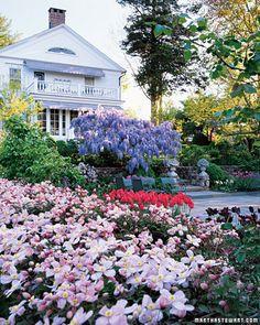 martha stewarts gardens at Turkey Hill