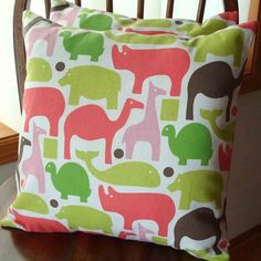Fun colors and throw pillows go together like pb and j.