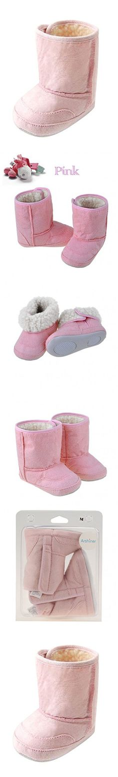 Baby Girls Boys Infant Toddler Eva Winter Fur Shoes Snow Boots Warm , (12 - 18M ( X L) Pink )