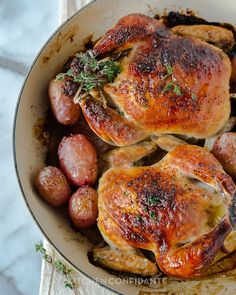Buttermilk Brined Cornish Hens | Kitchen Confidante | Roasted.  Just 2 of us for Thanksgiving this year...this seems like the perfect meal!