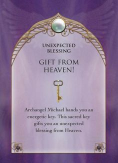 Keep an eye out for your unexpected blessing today. Angel Guidance, Spiritual Guidance, Spiritual Quotes, Archangel Prayers, Gift From Heaven, I Believe In Angels, Angel Cards, Prayer Board, Guardian Angels