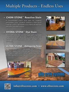 Lots of stained concrete options
