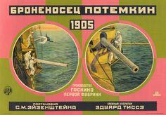 "Poster filme ""Encouracado Potemkin"",  direção Sergei Eisenstein"