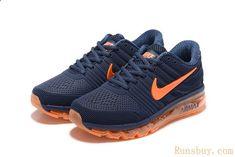 90acfbc6ef5e1 Nike Air Max 2017 Men Dark Blue Orange twitter.com ... Sneakers