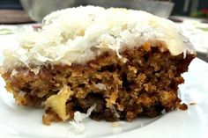 """This Pineapple Coconut Cake with Cream Cheese Frosting is the perfect dessert to serve at a """"pineapple hospitality party,"""" or for any holiday gathering!"""