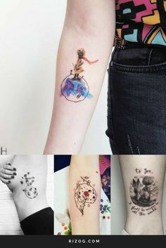 Tatuajes Principito Diseños Para Mujeres - Little Prince Tattoo For Women
