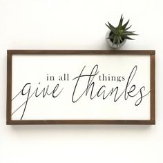 handmade home decor Excited to share this item from my shop: In All Things Give Thanks Sign - Fall Farmhouse Decor - Fall Decor - Fall Signs - Give Thanks - Autumn Decor Easy Home Decor, Handmade Home Decor, Cheap Home Decor, Handmade Signs, Cute Dorm Rooms, Cool Rooms, Modern Farmhouse Decor, Farmhouse Design, Modern Fall Decor