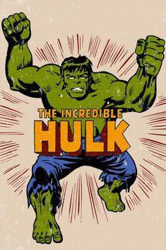 The Incredible Hulk Marvel Green Warrior Canvas Print Wall Art A2 A1 A0 Sizes
