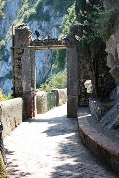 love love love....the narrow walking streets in Capri....