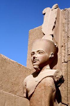 Statue Of Amun Ra At Karnak Temple, Luxor