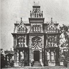 "There was only one address where a shipping magnate Rufus K. Winslow could build his new mansion....Euclid Ave, also dubbed ""Millionaires Row"". Built in 1878 this 18 room 5 bath house was executed in then fashionable Second Empire style but with a High Victorian Gothic twist. All its exterior embellishments are Gothic. Reputed to be the finest at the time, the interiors contained elaborately carved rare woods & a broad sweeping staircase. This #lostmansion was demolished in 1927 to make way…"