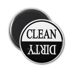 Clean dirty dishwasher magnet from Zazzle.com