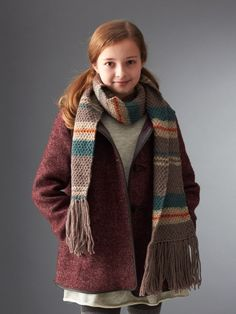 Inspired by Liesel's scarf from the film The Book Thief, this simple knit scarf is a timeless addition to any wardrobe.