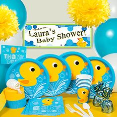 Cute duck baby shower theme