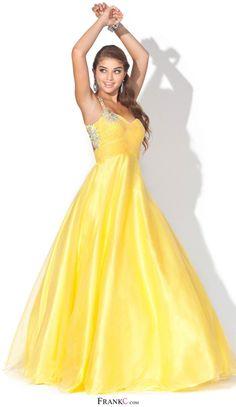 Yellow Princess Prom Dresses Uk 26
