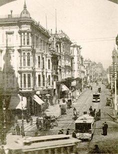 San Francisco Street - Grant Avenue at Market, 1880s by San Francisco Public Library, via Flickr