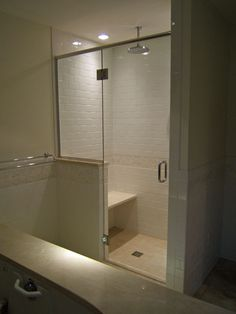 in his spare time he also installs shower doors for individuals who have purchased doors