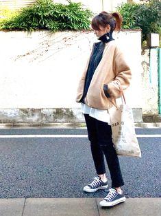 ボアジャケット × モノトーン GREEN BOWL ボアジャケットは、目が細いから着膨れ感なくス