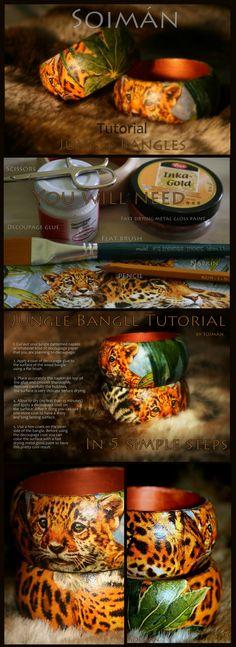 DIY Jungle Bangle decoupage tutorial