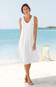 6edca0abf336 dresses   linen embroidered dress at J.Jill Linen Dresses