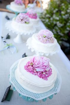 cake toppers.. I would do a deep purple hydrangea or a bigger peonies
