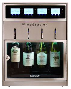 Dacor 20 Inch Wine Storage with Capacity, Thermo-Electric Cooling System, LCD Controls, Dispensing System and Parental Control Locking Door winedispenser Best Appliance Brands, Wine Station, Wine Dispenser, Expensive Wine, Wine Refrigerator, Wine Storage, Wine Drinks, Wine Tasting, Wine Rack