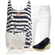 Boat Print Top by daiscat on Polyvore featuring polyvore fashion style Vince Vidorreta Nancy Gonzalez