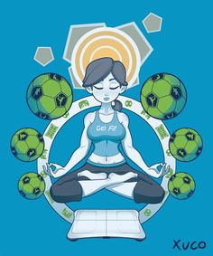 Get Fit Wii Fit Trainer T-Shirt Design