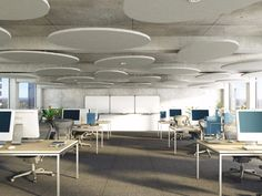 Acoustic ceiling clouds ROCKFON ECLIPSE by ROCKFON - ROCKWOOL ITALIA