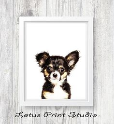 Puppy Wall Art Dog Print Chihuahua Print Kids Room Decor