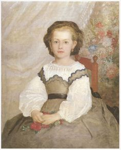 Sleeveless over-dresses with distinctive W-shaped necklines, such as the one worn in Renoir's 1864 portrait of Mademoiselle Romaine Lancaux, were considered especially stylish for girls in the mid-1860s.
