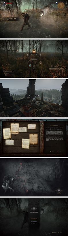 THE WITCHER 3: THE UI VISUAL ART on Behance