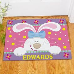 Free Personalized Doormat for Easter Spring Fleece Thick Free Personalized Doormat for Easter Spring Fleece Thick Perfect for Housewarming , House Decor, Easter , Spring Gifts and more.