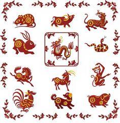 Chinese Zodiac Machine Embroidery Designs set 4x4