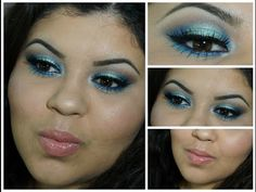Green & Blue Makeup | Galaxy Chic Palette | BeautywithKarla11 - YouTube