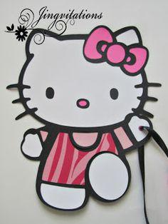 Hello Kitty Zebra Birthday Banner Cricut