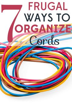 7 Frugal Ways to Organize Cords Electrical cords can become a tangled mess, plus they& such eyesores! Check out these 7 frugal ways to organize cords. Cord Storage, Cord Organization, Storage Hacks, Organizing Ideas, Household Organization, Organising, Saving Ideas, Money Saving Tips, Organize Cords