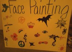This is another poster I made for the Halloween Carnival. My favorite is the mockingjay pin, of course. And the cupcake. :P