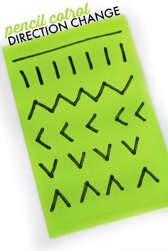 Foam sheets can be used for a handwriting activity with kids.