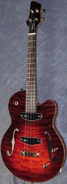 Jonathan Mann Raptor semi acoustic #LardysUkuleleOfTheDay ~ https://www.pinterest.com/lardyfatboy/lardys-ukulele-of-the-day/ ~