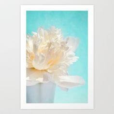 WHITE PEONY-DREAM Art Print by  VIAINA - $19.00